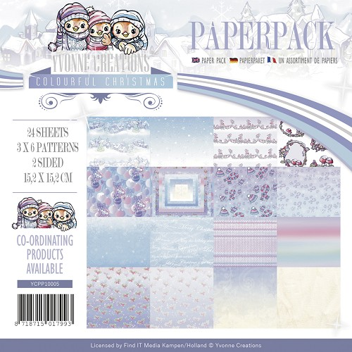 Yvonne Creations - Paperpack - Colourful Christmas