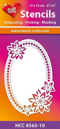Hearty Crafts - Stencil flower oval