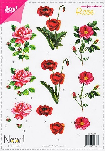 Joy!Crafts - Knipvel - Bloemen - Rose