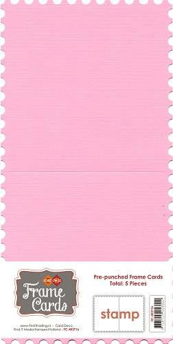 Frame Cards - Stamp - Vierkant - Roze