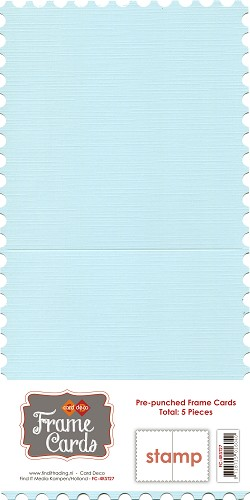 Frame Cards - Stamp - Vierkant - Baby blauw