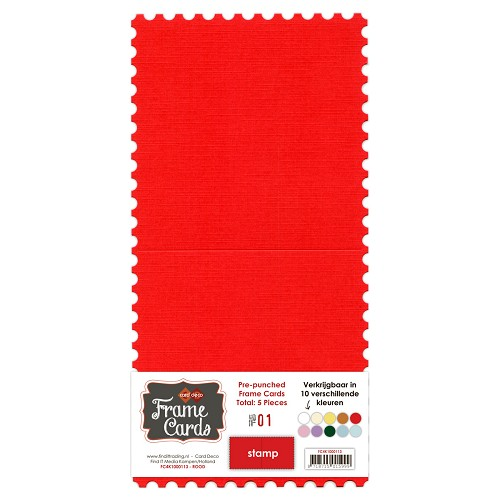 Frame Cards - Stamp - Vierkant - Rood