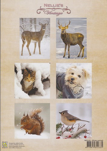 Nellie Snellen - Knipvel - Vintage - Winter animals