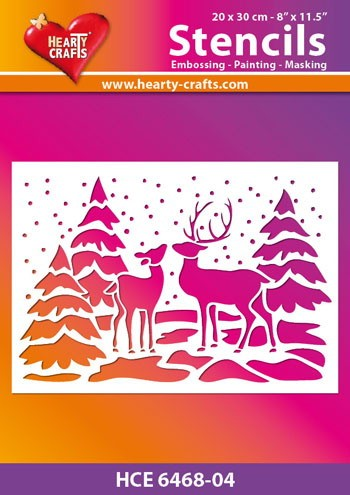 Hearty Crafts - Stencil - Kerst Rendier
