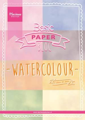 Marianne Design - Pretty Papers Bloc - Watercolor A4 formaat