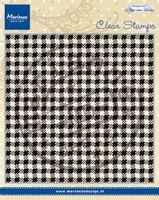 Marianne Design - Clearstamp - Anja`s plaid
