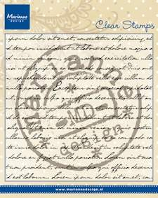 Marianne Design - Clearstamp - Tekst