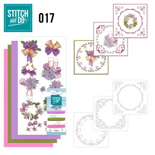 Card Deco - Stitch and Do - Borduurset 17 - Christmas