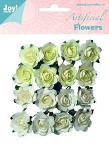 Joy!Crafts - Artificial Flowers - Wit-Creme