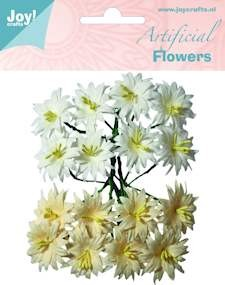 Joy!Crafts - Artificial Flowers - Wit-Roze