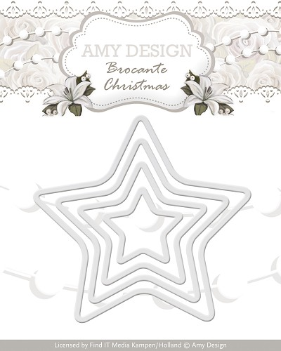 Amy Design - Die - Brocante Christmas - Mini Star Frames
