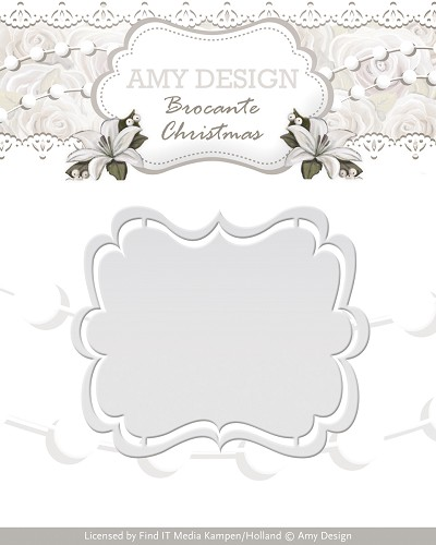 Amy Design - Die - Brocante Christmas - Label