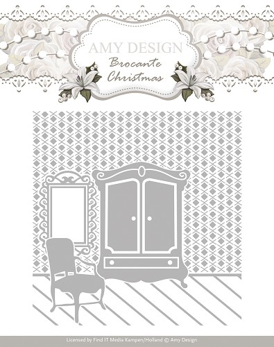 Amy Design - Embossing Folder - Brocante Christmas