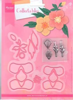 Marianne Design - Die - Collectables - Set Eline`s helleboras stencil and stamp set