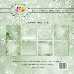 Dixi Craft - Paperpack - Christmas Time - Green