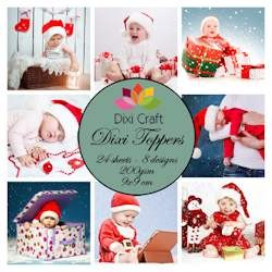 Dixi Craft - Toppers - Christmas babies color