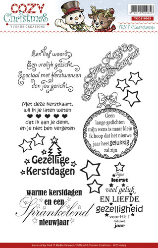 Yvonne Creations - Clearstamp - Cozy Christmas - Tekst