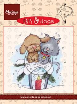 Marianne Design - Clearstamp - Cats & dogs candle light