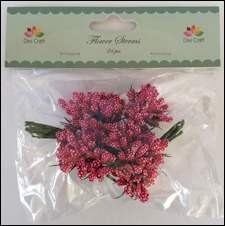 Dixi Craft - Flower Sterms - Wine red