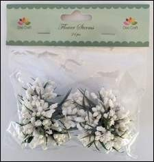 Dixi Craft - Flower Sterms - White