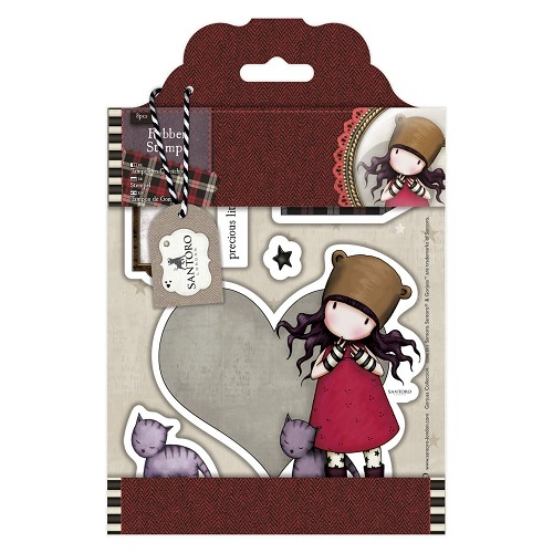 DoCrafts - Rubber Stamps - Santoro - Gorjuss - Purrrrrfect Love