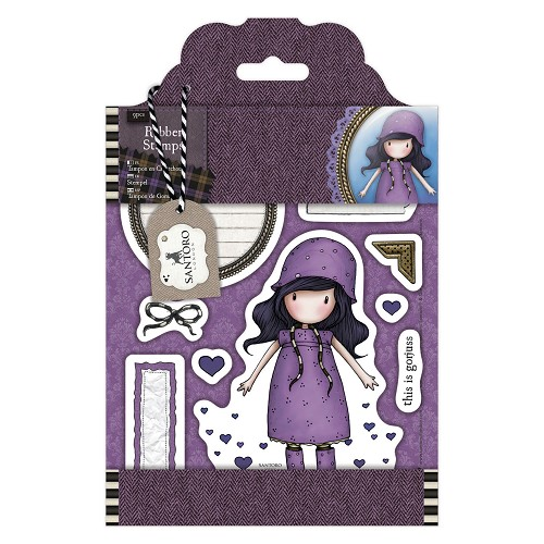 DoCrafts - Rubber Stamps - Santoro - Gorjuss - Rainy Daze