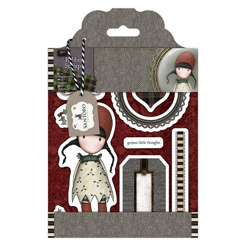DoCrafts - Rubber Stamps - Santoro - Gorjuss - Holly