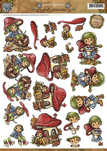 Yvonne Creations - Knipvel - Fall Favourites - Sweet Gnomes