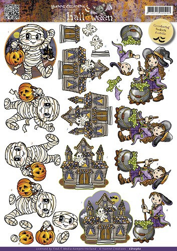 Yvonne Creations map 2 - Halloween - Little monsters