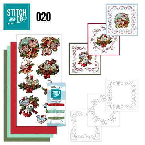 Card Deco - Stitch and Do - Borduurset 20 - Christmas Tweety