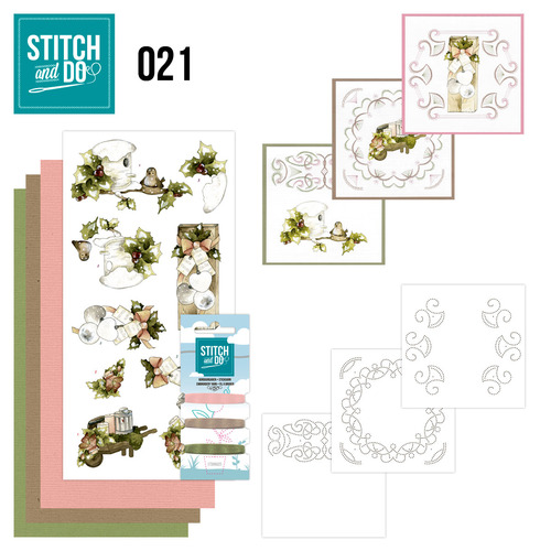 Card Deco - Stitch and Do - Borduurset 21 - Rustic Christmas