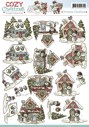 Yvonne Creations Kerst - Cosy Christmas - Xmas House