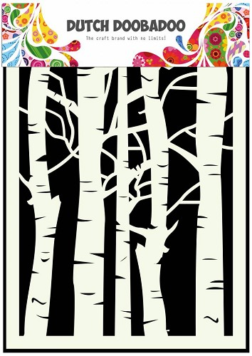 Dutch Doobadoo - Dutch Mask Art -  Birch Trees