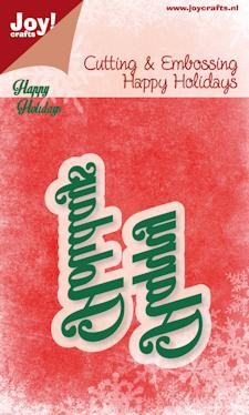 Joy!Crafts - Cutting & Embossing - Happy holidays