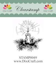 Dixi Craft - Clearstamp - Christmas candle