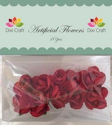 Dixi Craft - Artificial Flowers - rozen - Rood