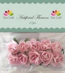 Dixi Craft - Artificial Flowers - rozen -  Zachtrose