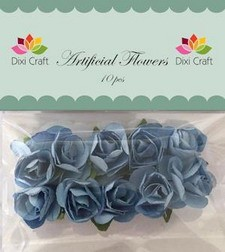 Dixi Craft - Artificial Flowers - rozen - Blauw
