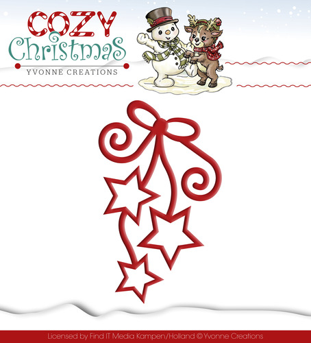 Yvonne Creations - Die - Cozy Christmas - Hanging Stars
