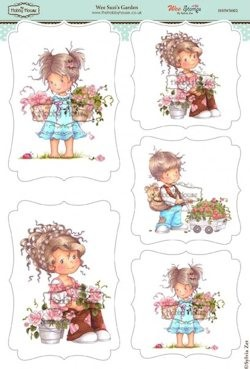 The Hobby House - Wee Stamp toppers - Stansvel - Suzi`s Garden