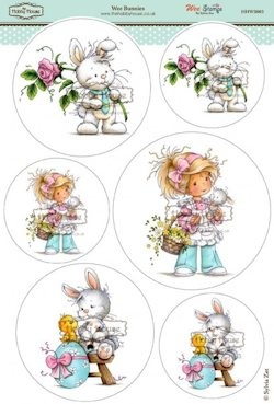 The Hobby House - Wee Stamp toppers - Stansvel - Bunnies