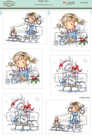 The Hobby House - Wee Stamp toppers - Stansvel - Holly Time