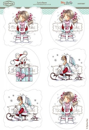 The Hobby House - Wee Stamp toppers - Stansvel - Let it Snow
