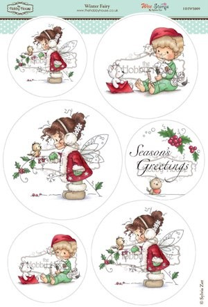 The Hobby House - Wee Stamp toppers - Stansvel - Winter Fairy