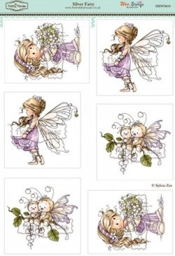 The Hobby House - Wee Stamp toppers - Stansvel - Silver Fairy