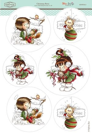 The Hobby House - Wee Stamp toppers - Stansvel - Christmas Berry