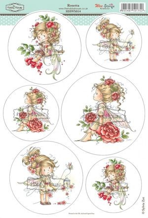 The Hobby House - Wee Stamp toppers - Stansvel - Rosetta