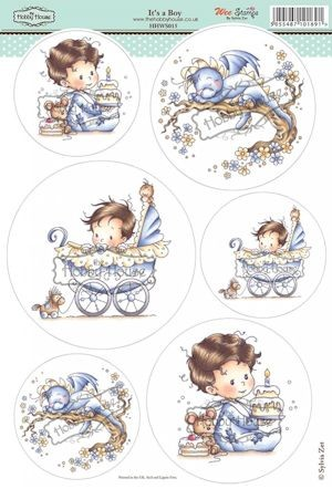 The Hobby House - Wee Stamp toppers - Stansvel - It`s a Boy