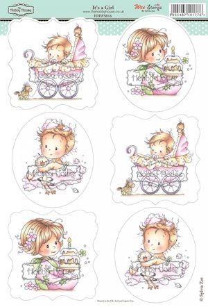 The Hobby House - Wee Stamp toppers - Stansvel - It`s a Girl