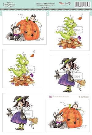 The Hobby House - Wee Stamp toppers - Stansvel - Hazel`s Halloween